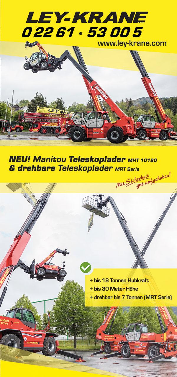 Stapler - Gabelstapler mieten bei Ley Krane in NRW