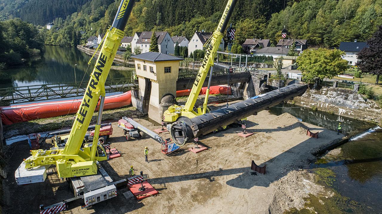 Wehrwalzen Lehnhausen werden ausgetauscht