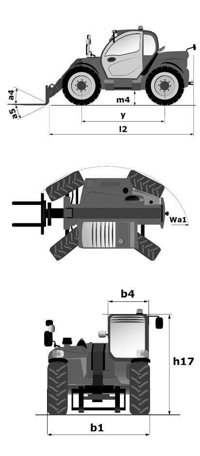 Teleskopstapler 3,5t / 6m Maße